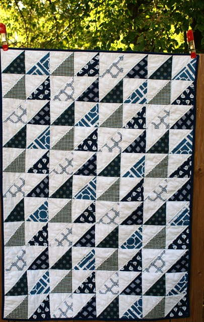 nautical baby boy quilt
