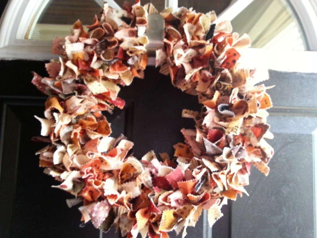 fall scrap wreath