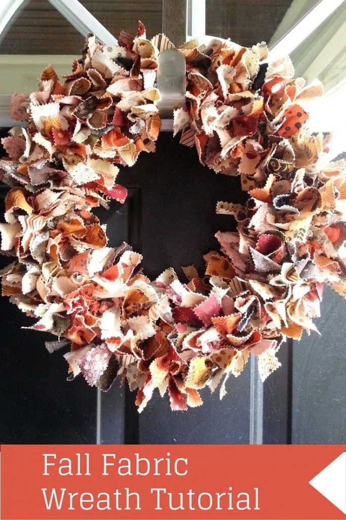 Fabric fall wreath tutorial