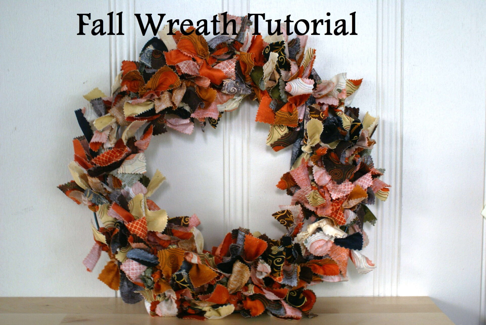 Fabric Fall Wreath Tutorial Quiltytherapy