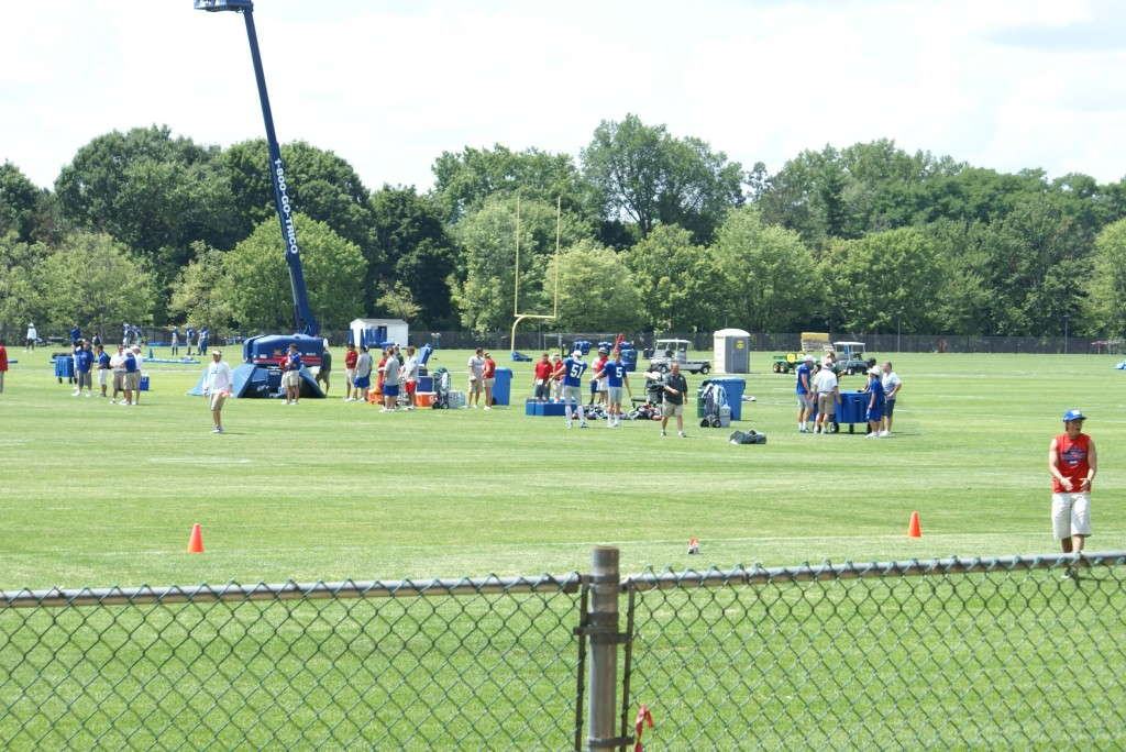 Giant's 2012 practice camp in Albany.