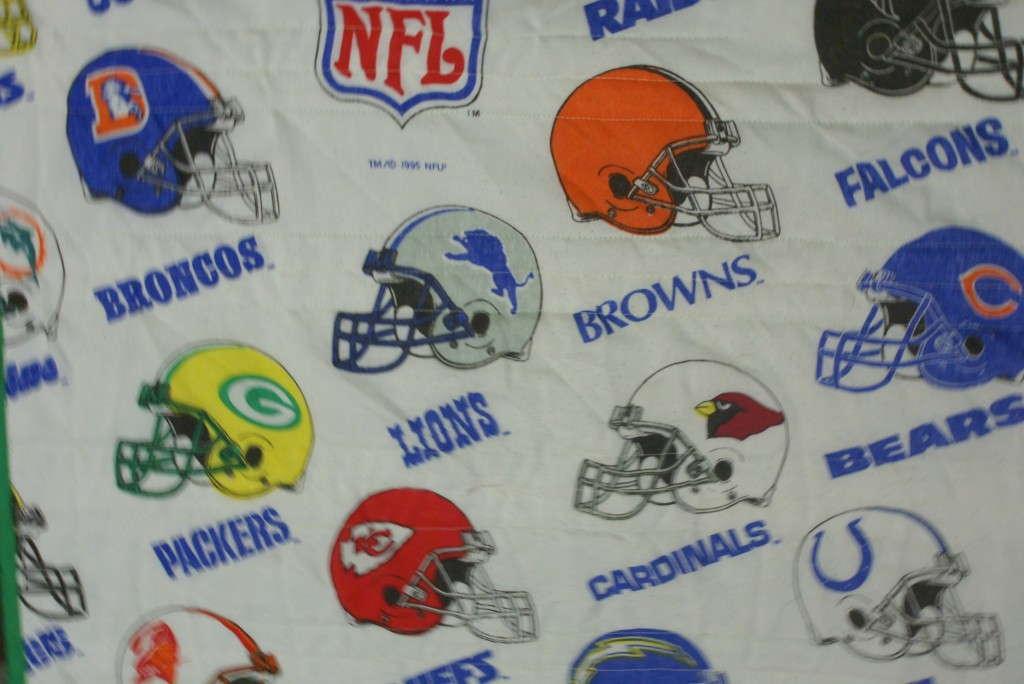 vintage sheet with nfl teams