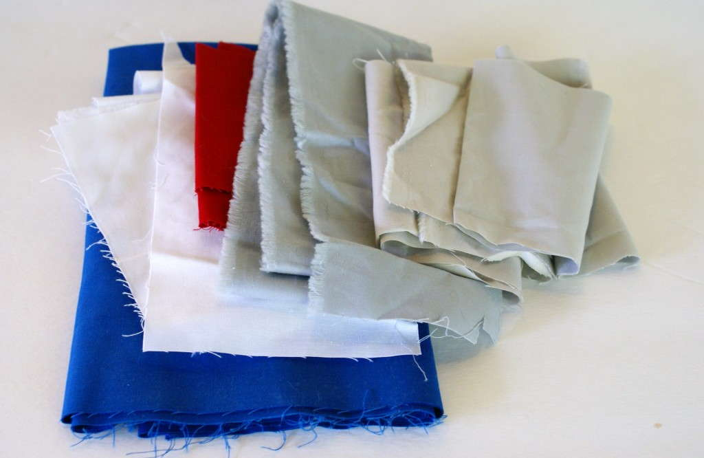 ny giants colors scrap fabric