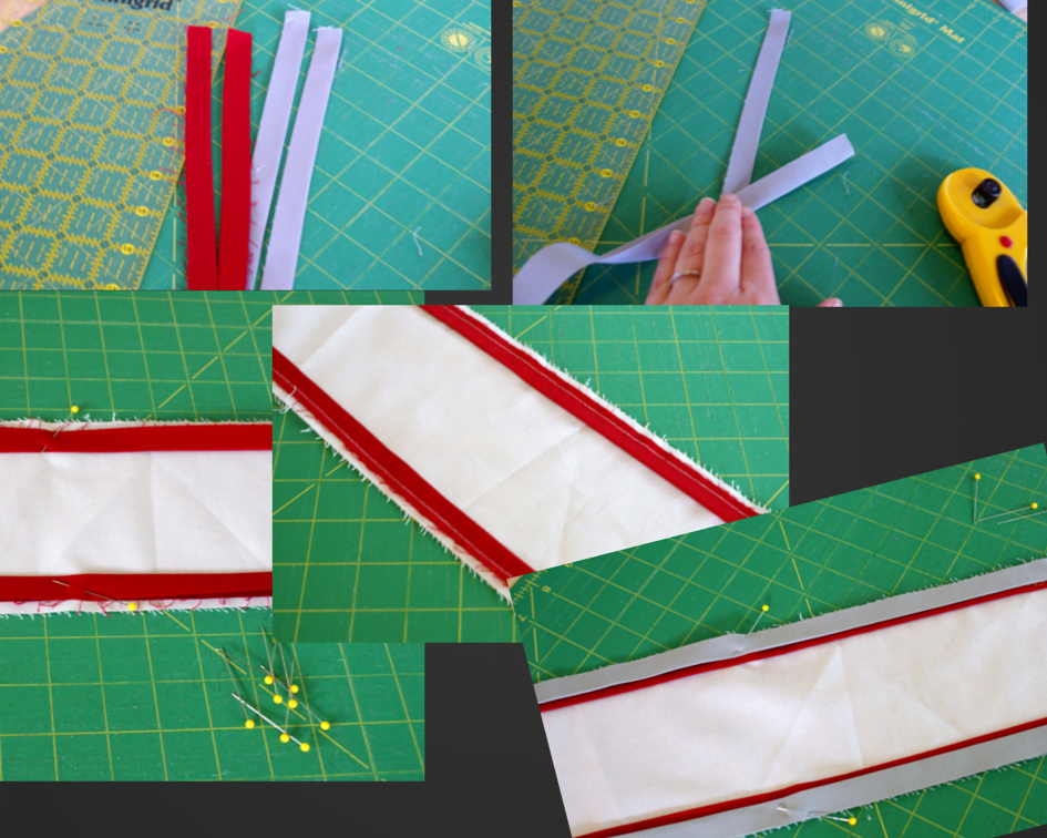 strip cutting for pillow