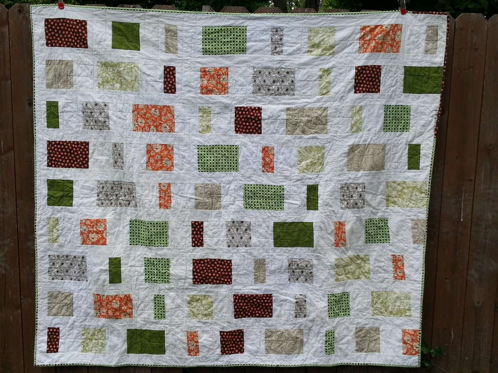 rectangles and squares modern quilt
