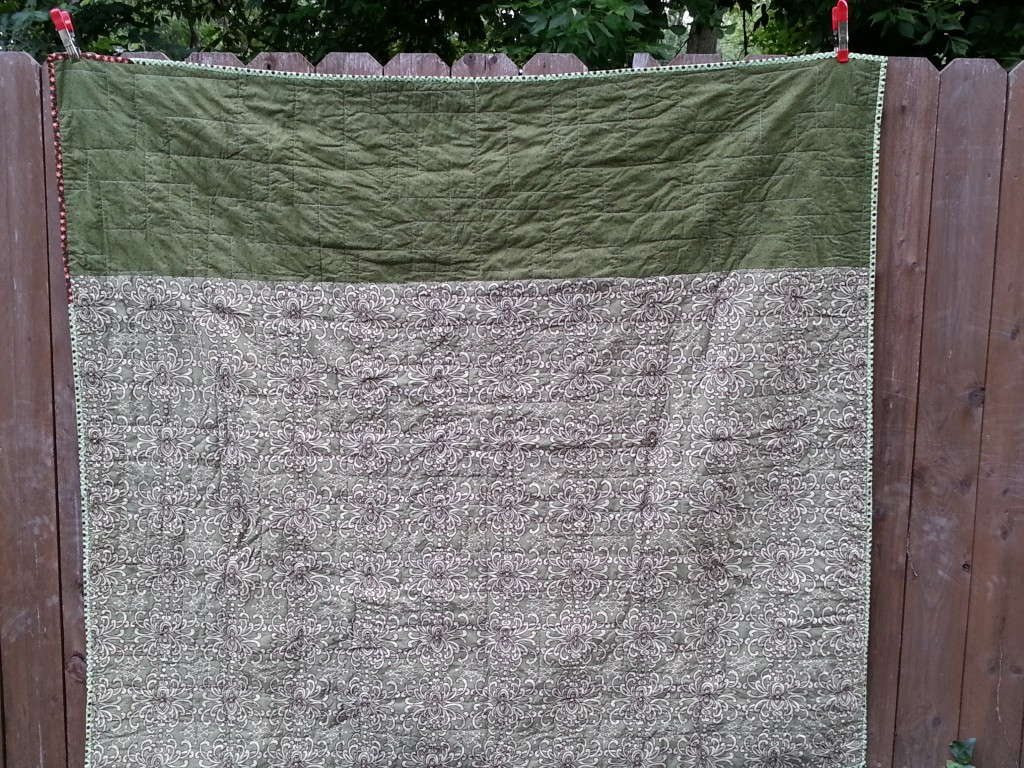 backing of rectangles and squares quilt