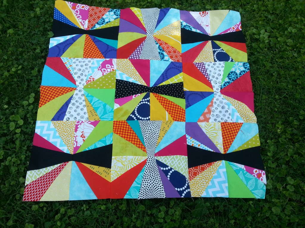 Baby Jacks Black, White, and Brights Quilt