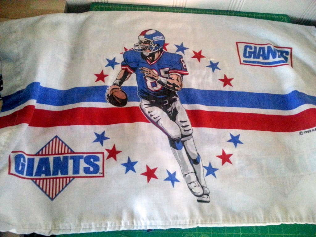 vintage ny giants pillowcase