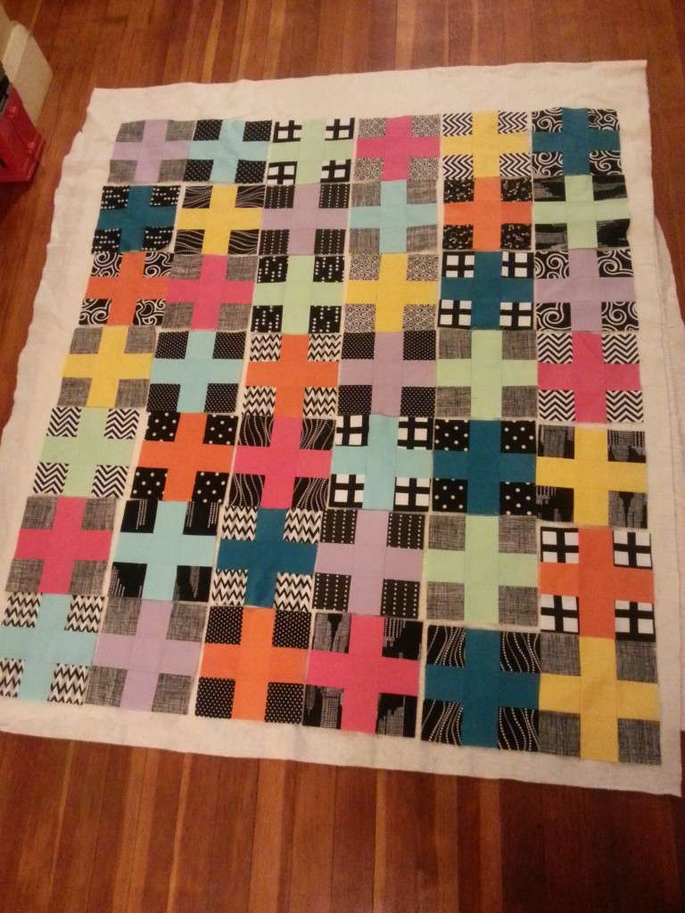black and white charming plus quilt