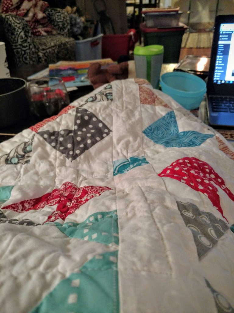 quilt in use