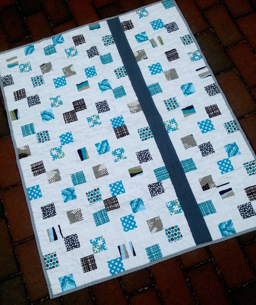 mosaic tiles baby quilt