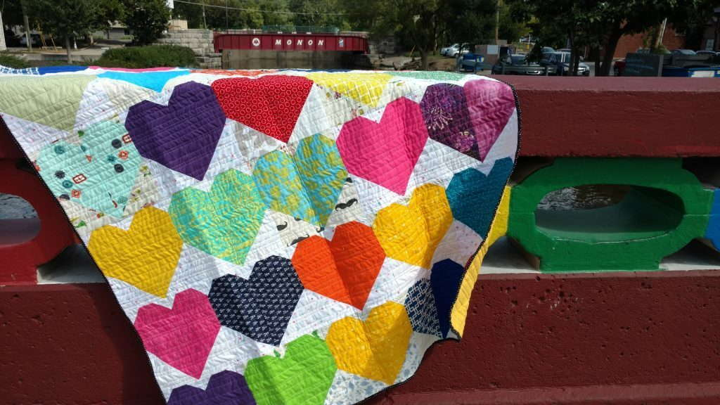 quilts for pulse, heart quilt, charity quilt, group quilt