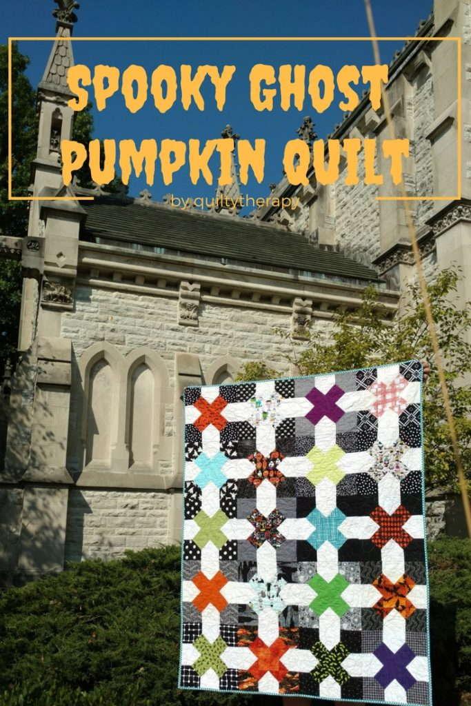 spooky ghost pumpkin quilt, halloween quilt, halloween decor, handmade halloween decor