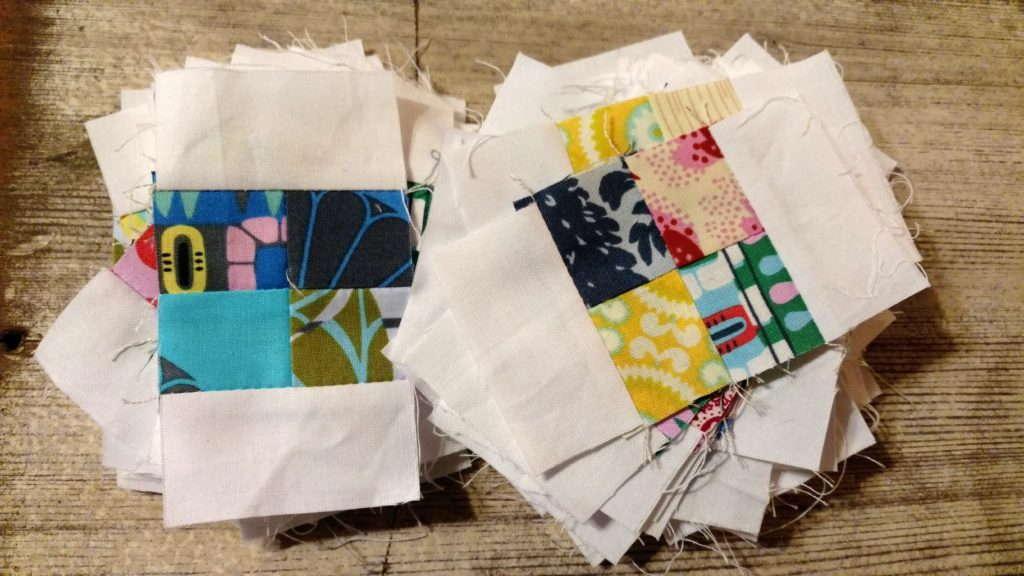 tiny scrap quilt original design