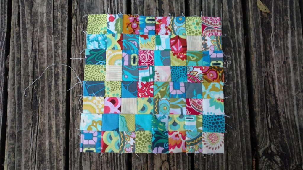 tiny scrap quilt block