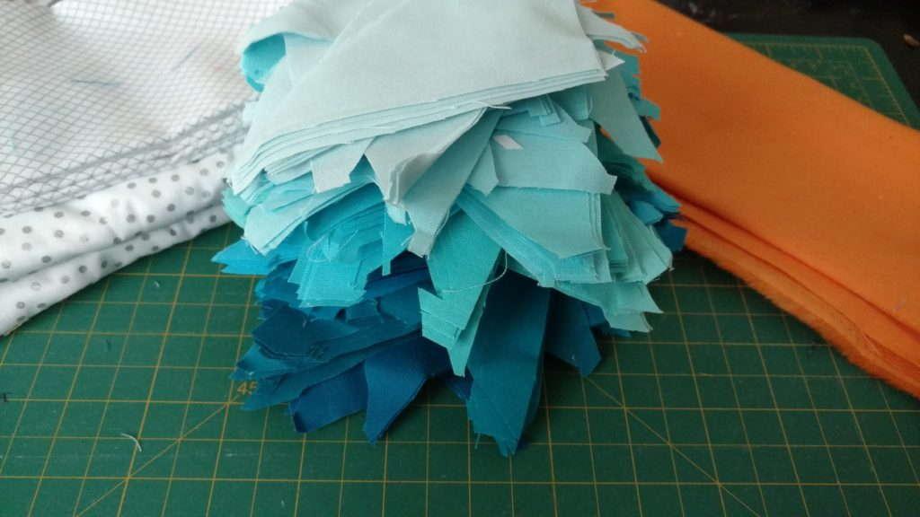 kona blue triangle scraps