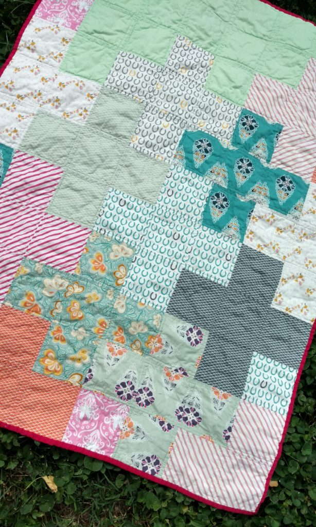 fantasia girl quilt, plus quilt, stash fabrics