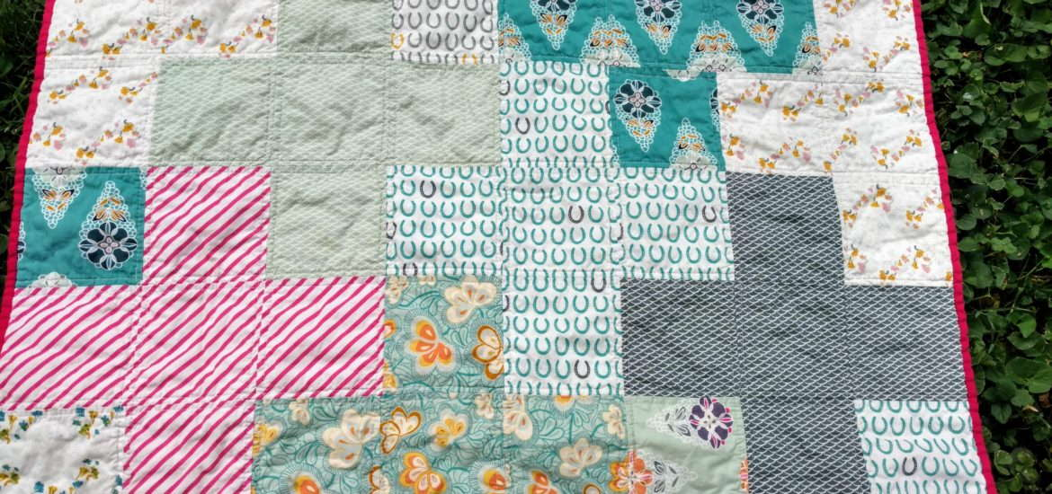 fantasia plus quilt, baby girl quilt, whimsical baby quilt