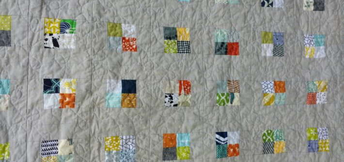postage stamp checkerboard quilt, scrap quilt, quiltytherapy