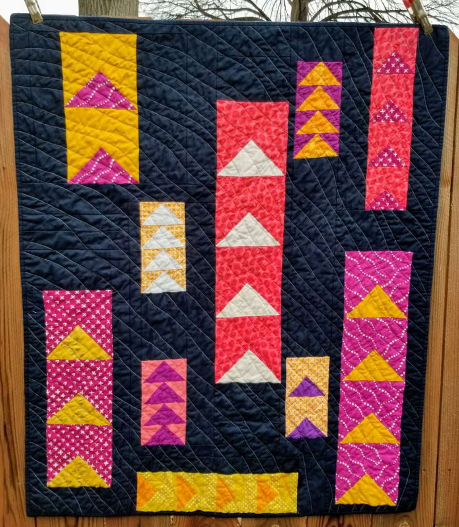 shift quilt, quiltytherapy, scrap quilt, improv pieced quilt