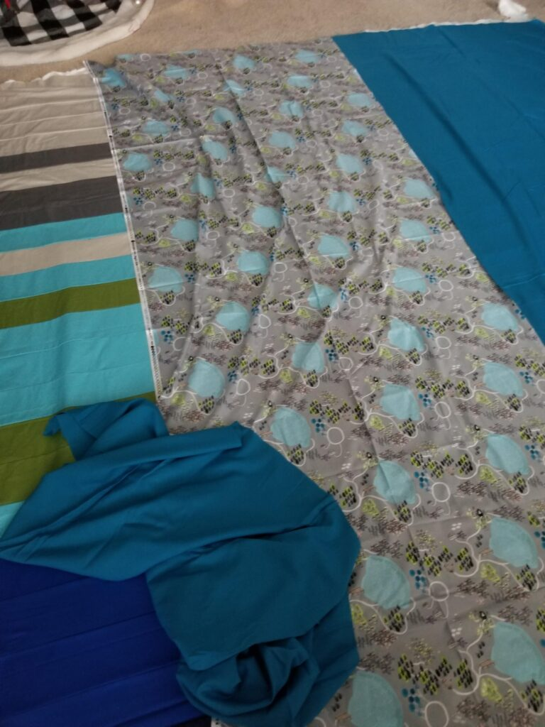 laying out a quilt, basting a quilt