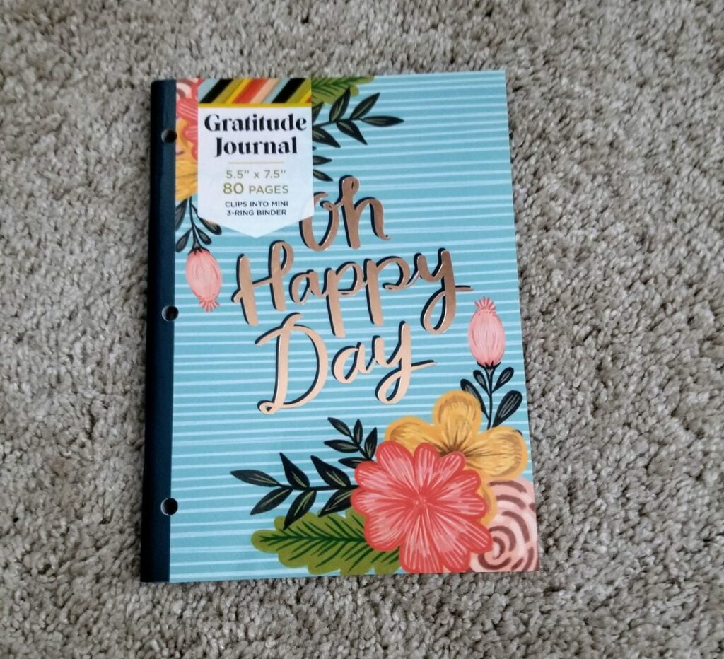 gratitude journal, quiltytherapy