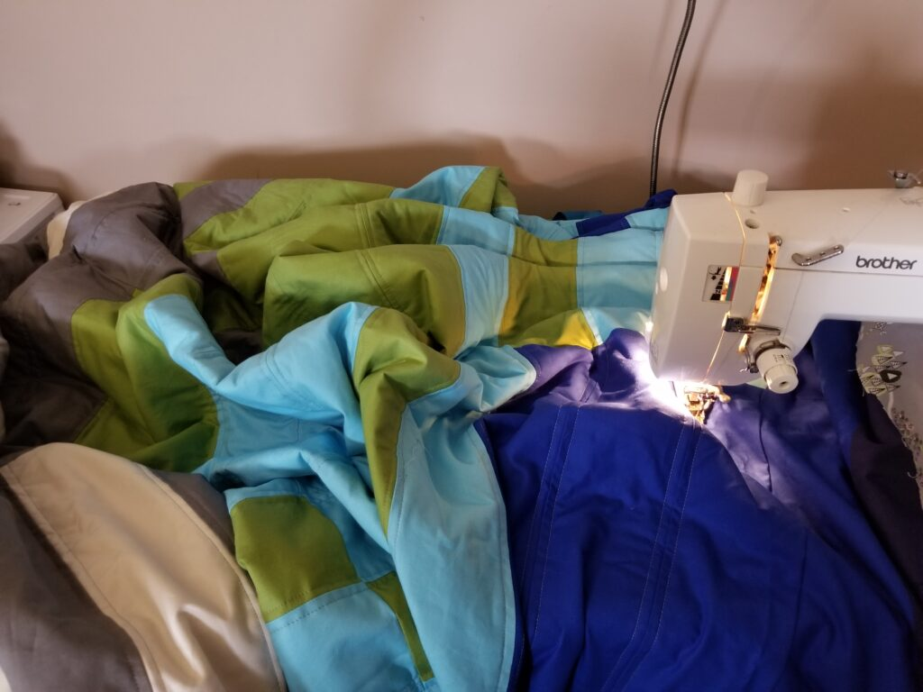quilting at home on a domestic machine
