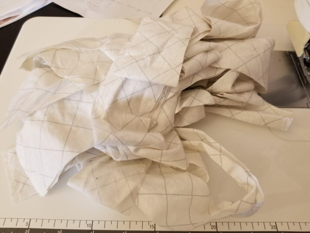 binding cut for a quilt