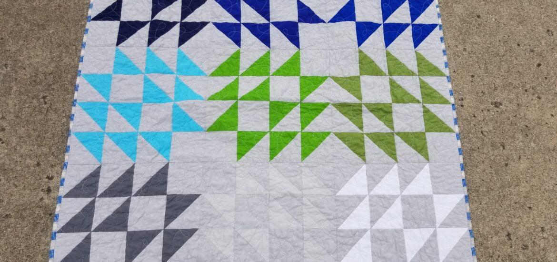 entropy quilt, solids quilt series