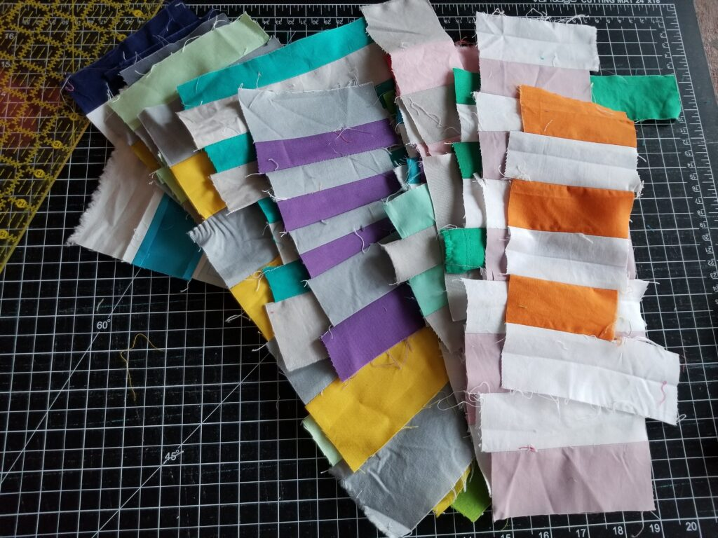 stack of strip blocks